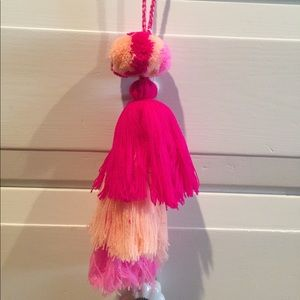 Accessories - Over sized purse Pom Pom tassels